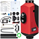 maXpeedingrods 5KW 12V Caravan Diesel Air Heater 10L Tank with Remote Controller LCD Thermostat Monitor Silencer for Car Bus
