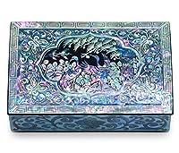 ジュエリーTrinketボックスMother of Pearl Inlayラッカー塗装Cranes
