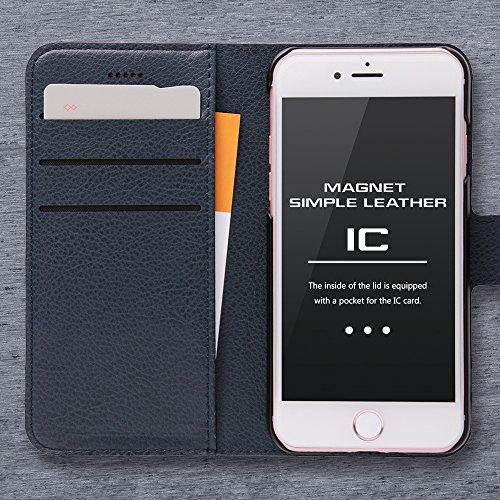 レイ・アウト iPhone7ケース 手帳型 ケース シンプル マグネット (カード収納×3 / スタンド機能) ピンク RT-P12ELC1/P