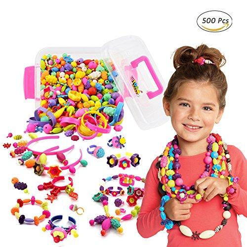WTOR おもちゃ ビーズ アクセサリーキット DIY材料 手作り 知育玩具...