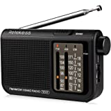 Retekess V-117 Portable AM FM Radio with Shortwave Battery Powered Transistor 3.5mm Headphone Jack Speaker Small Compact Pock