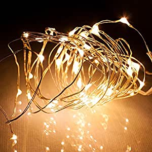 Homdox 10M LED100灯 イルミネーションLEDライト ストリングライト インテリア飾り クリスマス ウェディング 装飾 パーティー 誕生日 防水 (ウォームホワイト)
