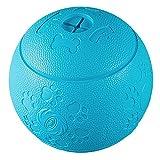 犬のおもちゃ 噛むおもちゃ 天然ゴムボール/ワンコプレイボール/犬用おやつボール/知育ゴムボール/丈夫な知育玩具ペット用おやつボール-直径8cm (ブルー)