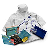 DIY jr My First Stethoscope Doctor's Kit - Real Stethoscope for Kids - Includes Lab Coat, Surgical Cap, Name Tag and Lanyard,