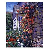 Trademark Fine Art Magnificent Climbing Roses by David Lloyd Glover キャンバスウォールアート 18 by 24-Inch DLG0034-C1824GG