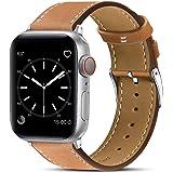 BRG コンパチブル Apple Watch バンド 本革 ビジネススタイル コンパチブル アップルウォッチバンド コンパチブル Apple Watch 7/6/5/4/3/2/1/SE(38/40/41mm ブラウン)