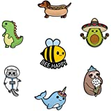 RipDesigns - 7 Pins for Kids | Enamel Pins for Backpacks Cute Pins for Jackets Enamel Pin Set for Bookbags Dinosaur Lapel Pin