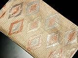 リサイクル袋帯/正絹金糸松皮菱袋帯(ふくろおび 丸帯【中古】)【ランクB】