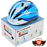 Kids Helmet – Adjustable from Toddler to Youth Size, Ages 3 to 7 - Comes in Great Looking Package Perfect for Gift - Multi-Sp