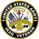 1pc豪華なファッショナブルUnited States ArmyイラクVeteranステッカーSignアウトドア車デカールMilitaryサイズ12