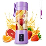 Portable Blender, MIAOKE Smoothie Blender, Personal Mini Juice Blender with Six Blades in 3D, USB Rchargeable Juicer Cup Home