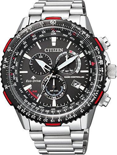 [シチズン]CITIZEN 腕時計 PROMASTER プロマスター エコ・ドライブ電波時計 スカイシリーズ ダイレクトフライト CB5001-57E メンズ