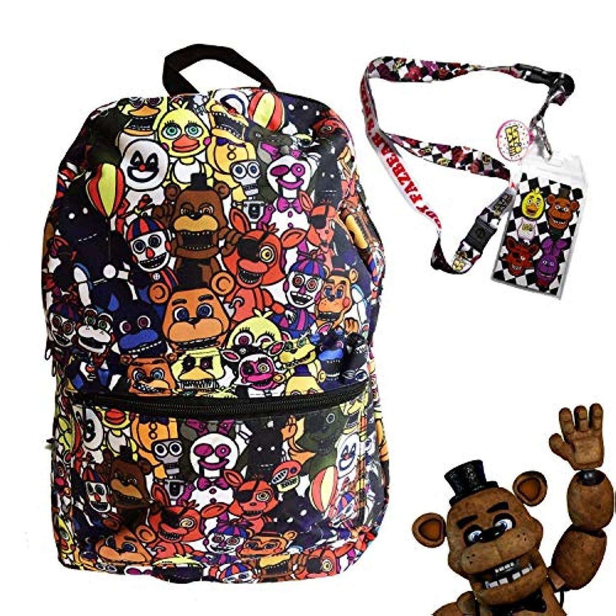 区アマチュアマーキーFNAF Five Nights at Freddy's School Backpack Luggage Bag with Lanyard (FNAF World) [並行輸入品]