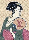 ルイ・ヴィトン Canvas Poster キャンバスポスター 喜多川歌麿 ルイヴィトン 美人画 UTAMARO #sh12 STAR DESIGN A3サイズ(297×420mm)