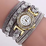 Womens Watches、jushyeレディースファッションカジュアルanalogquartzレディースラインストーン腕時計ブレスレットウォッチギフト マルチカラー