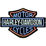 Harley-Davidson Neon Lights Embossed Bar & Shield Tin Sign 19 x 12 in 2011381