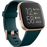 Fitbit Versa 2 Alexa搭載 スマートウォッチ Emerald/Copper Rose L/S サイズ…