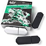ADV テニス振動ダンプナー - 3個セット - ラケットとストリング用の究極の衝撃吸収装置 - プレミアム品質 耐久性 100%信頼性 - ポリシリコン素材テクノロジー