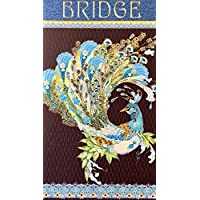 Pictura Gold Foil Bridge Score Pad, Peacock