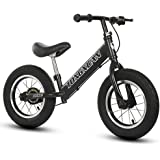 Kids First Running Balance Bike with Brakes and with Aluminum Alloy Frame Adjustable seat Handlebar Children's pedalless Bicy