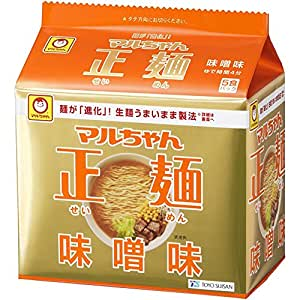 マルちゃん正麺味噌味 5P×6個