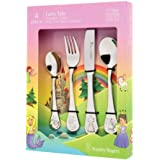 Stanley Rogers 50743 Children's Cutlery Fairy Tale 4 Piece, Stainless Steel Cutlery Set, Durable Flatware for Kids, Mirror Po