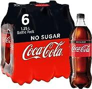 Coca-Cola No Sugar Soft Drink Multipack Bottles 6 x 1.25L