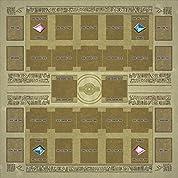 おもちゃの神様 ラバー プレイマット エジプト 壁画 風 (対戦用) リンク召喚 対応 エクストラモンスターゾーン あり 遊戯王