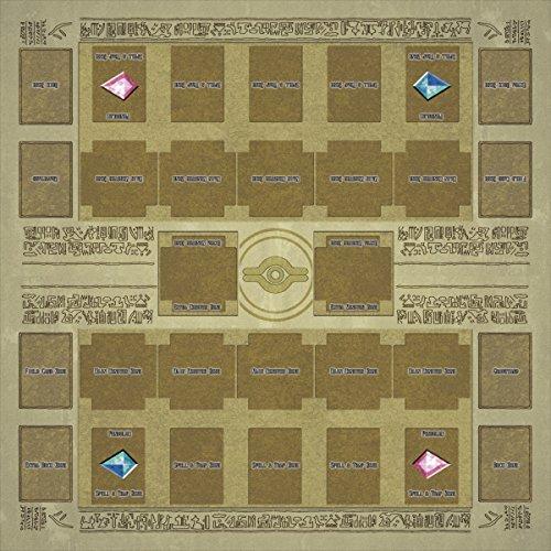 おもちゃの神様 遊戯王 ラバーマット プレイマット リンク召喚 新マスタールール EXゾーン 対応 (60×60cm 壁画風)