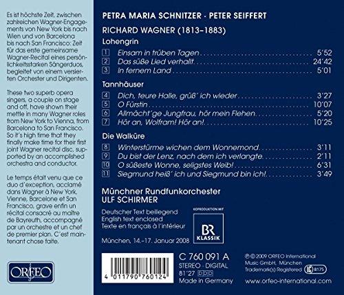 ワーグナー集「タンホイザー」「ローエングリン」「ワルキューレ」 (Wagner / Petra Maria Schnitzer, Peter Seiffert)