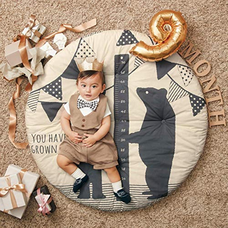 [ベルメゾン] フォトジェニック 寝相 アート ベビー用 円形 マルチ マット くまの親子