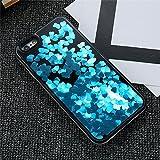 Dagly(TM) iPhone 6 6S iPhone 7プラスケースガール女性アクセサリーについてはiPhone 6 6SプラスiPhoneケース7 Phoneのカバーにグリッター流砂ケース[iphone 6 6S用の青色プラス]