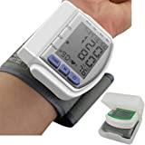Automatic Digital Wrist Blood Pressure Monitor Meter for Measuring Heart Beat And Pulse Rate DIA Tonometer with Cuff 60 Memor