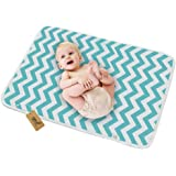 "iZiv Changing Pad, Portable Waterproof Changing Diaper Mat (30""x23""), Multi-Purpose Reusable Change Pad Travel Sheet for Baby"