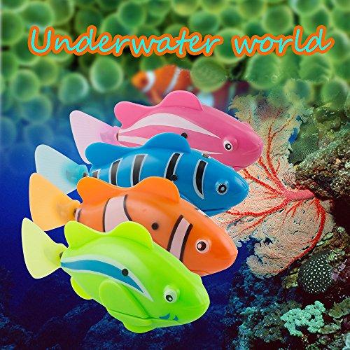 Genmine ロボフィッシュ 4枚入り かわいい 魚ロボット お風呂おもちゃ 鑑賞魚 本物のサカナそっくりに泳ぐマイクロロボット !