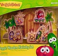 Veggie Tales Wooden Nativity Set (00516) [並行輸入品]