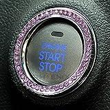 5274 スターター リング エンジン スタートスターター ボタン ゴージャスにカスタム スワロフ 調 スイッチ 装飾 ラインストーン クリスタル ピンク