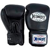 WINDY ボクシンググローブ BGVH ブラック 本革 スパーリング トレーニンググローブ ムエタイ キックボクシング MMA K1