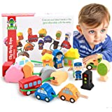 Wooden Educational Toys Wooden Shape Color Sorting Preschool Stacking Blocks Toddler Puzzles Toys Early Childhood Development