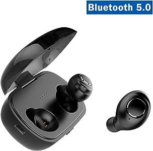 [Bluetooth 5.0進化版] TWS X8 完全ワイヤレスイヤホン イヤホン操作で曲送り・音量調節・通話制御可能 IPX5防水 左右分離型 Siri対応 充電ケース付 SUNUPBLUE ブルートゥースイヤホン(ブラック)