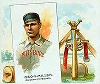 ピッツバーグ・パイレーツ–Geo。F Miller–野球カード 16 x 24 Giclee Print LANT-22982-16x24