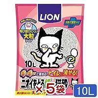 ライオン ニオイをとる紙の猫砂 10L 固まる 流せる 燃やせる 5袋入り