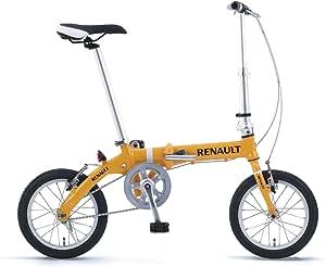 RENAULT(ルノー) アルミ製14インチ折りたたみ自転車RENAULT AL-FDB14 オレンジ