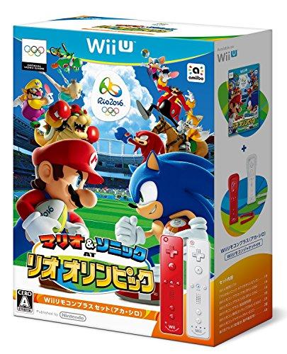 マリオ&ソニック AT リオオリンピック Wiiリモコンプラスセット(アカ・シロ) - Wii U