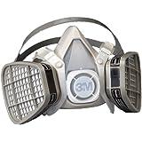 3M Half Facepiece Disposable Respirator Assembly 5101/21565, Organic Vapor Respiratory Protection, Small (Pack of 1)
