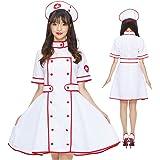 コスプレ ナース服 ホワイト レッド ライン 白 赤 制服 女医 ハロウィン 医者 ナース ドクター ワンピース 衣装