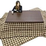 こたつ テーブル 布団 3点セット 150 150x90 長方形 大判 座卓 高さ 調節 継脚 おしゃれ 千鳥柄