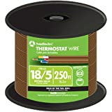 Southwire 64169644 18/5 250-Feet 5 Conductor Thermostat Wire, 18-Gauge Solid Copper Class 2 Power-Limited Circuit Cable, Brow