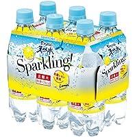 〔炭酸水〕 サントリー 南アルプスの天然水 スパークリングレモン500ml×6本