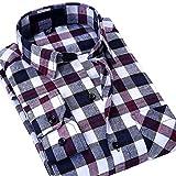 S.Flavor メンズ 長袖シャツ ネルシャツ カジュアルシャツ (3XL, DMM06)